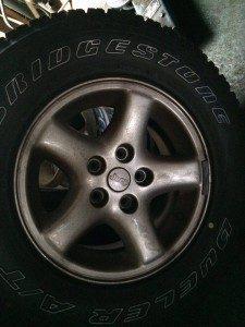 タイヤの点検